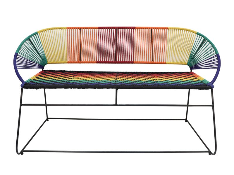 2 Seater Iron Jute Multicolour Bench Chairs And Stools Dubai