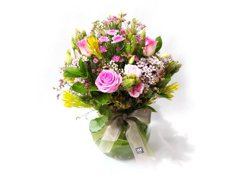 Pink In Bloom Flower Arrangements Dubai Garden Centre